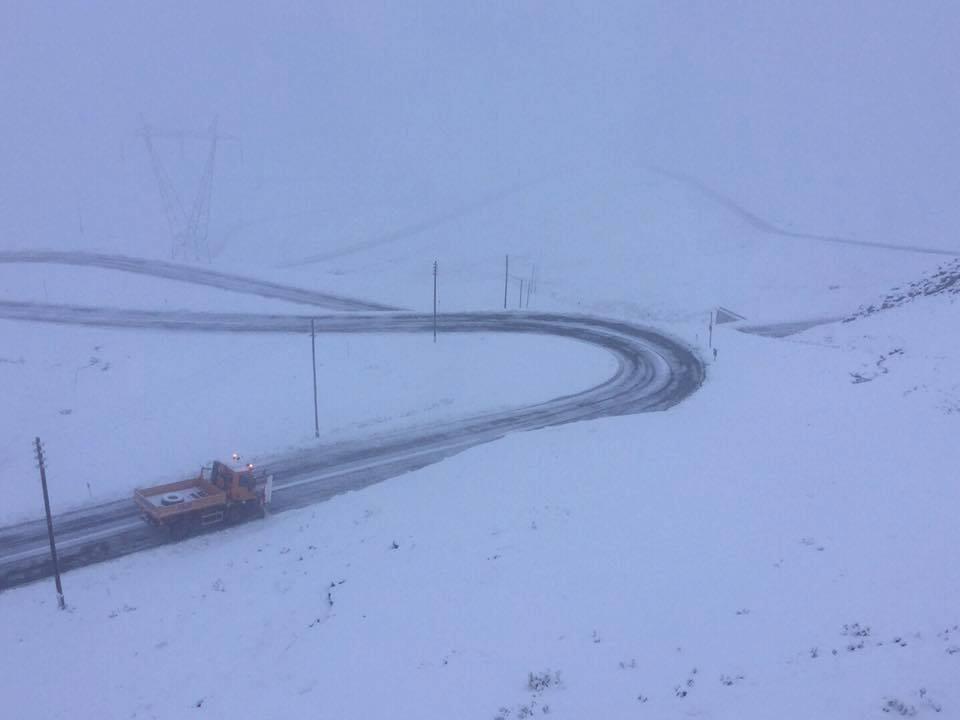 Stelvio Pass first snow autumn 2017