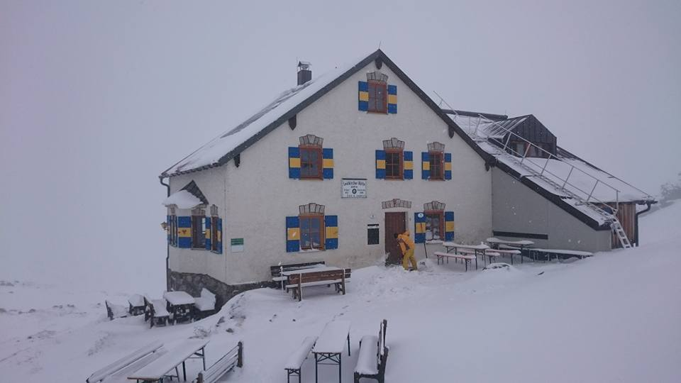 First snow in the Arlberg autumn 2017