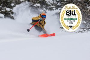 The new Blizzard Spur wins Fall-Line Skiing's 'Freeride: Best for Powder Surfing' award 2018