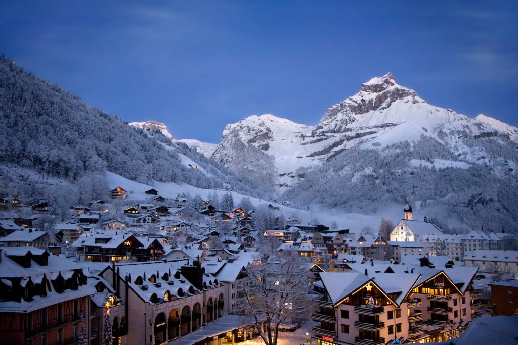 Engelberg ski resort at night
