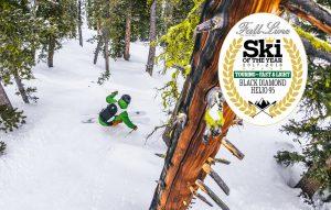 The Black Diamond Helio 95 ski wins a 'best touring ski: fast and light' award from Fall-Line Skiing magazine