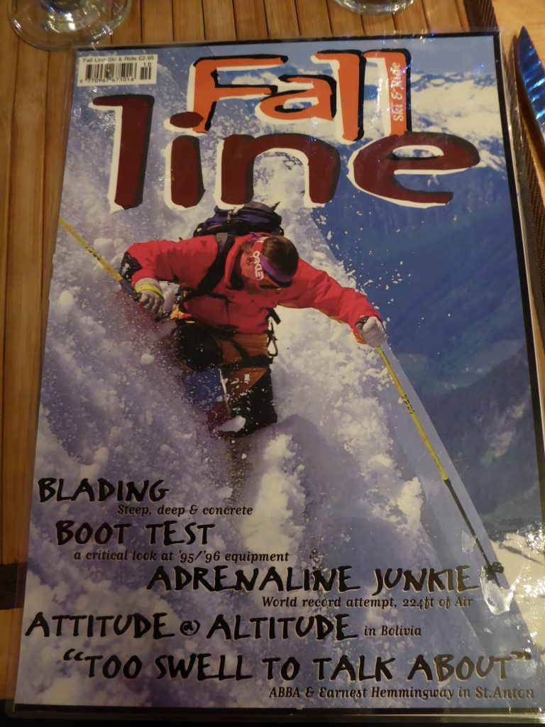 La Grave cover image in an old issue of Fall-Line Skiing magazine