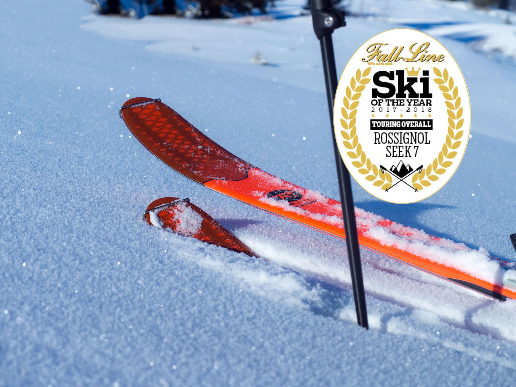 Rossignol Seek 7 wins Fall-Line Skiing magazine's best touring ski 2018 award