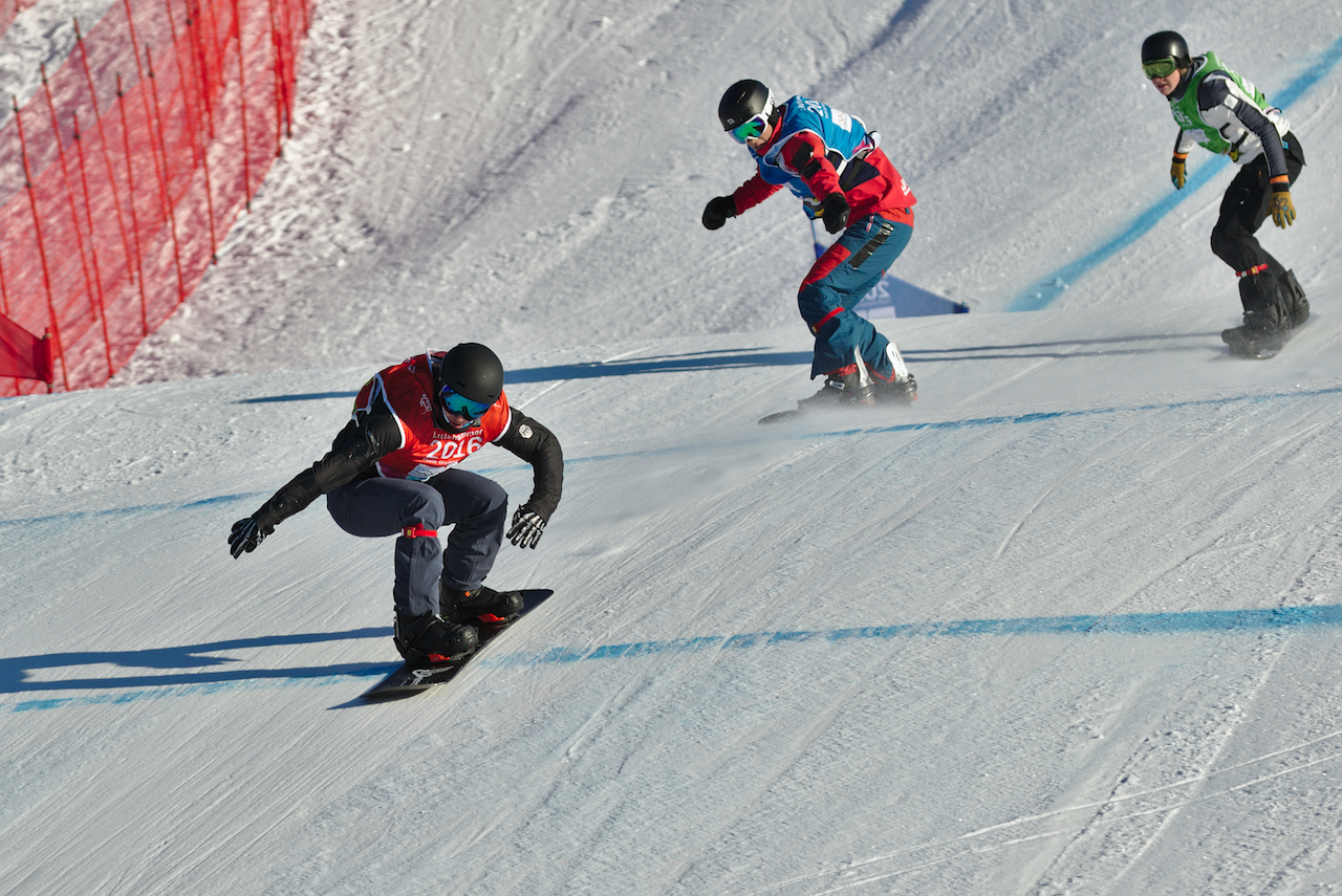 perfect conditions for snowboard cross