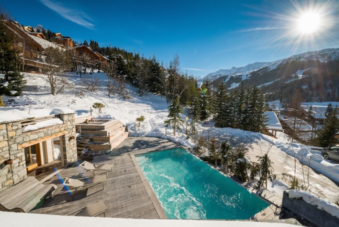 chic pools in the mountains