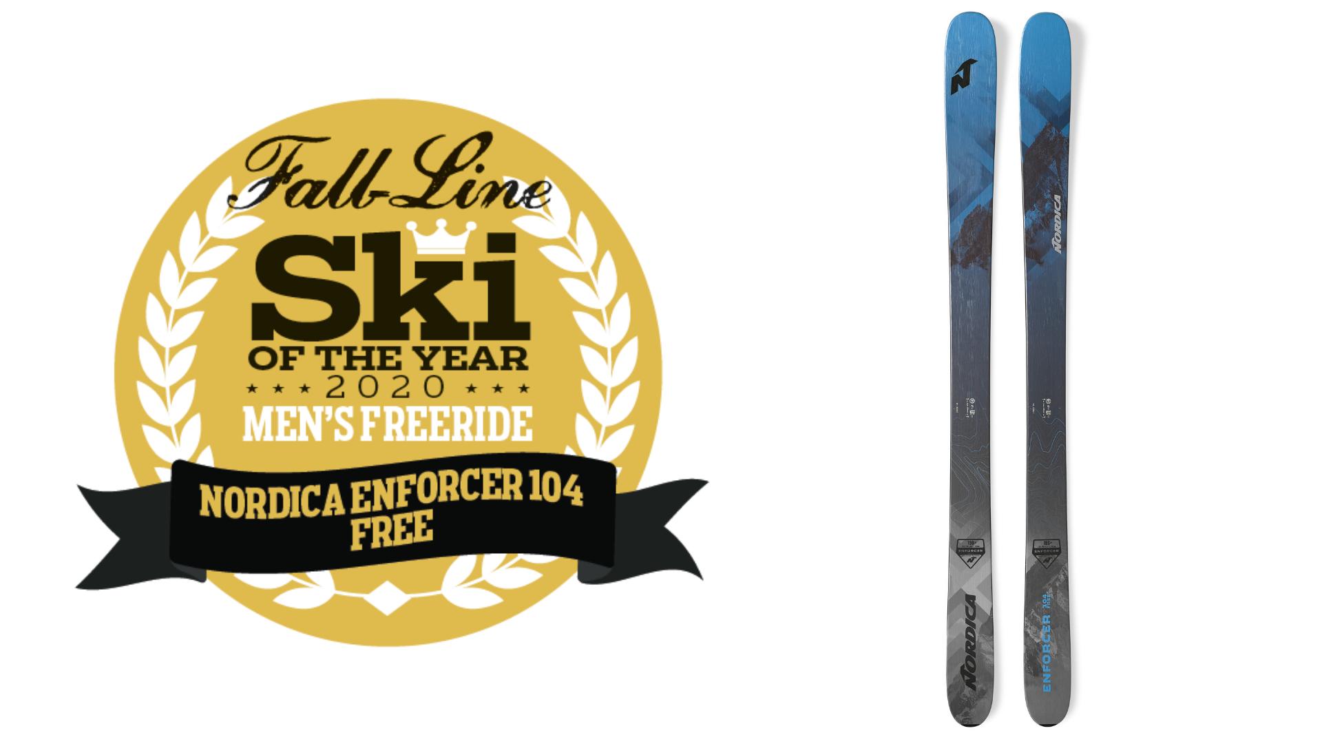 2020 Men S Freeride Ski Of The Year Nordica Enforcer Free 104 Fall Line Skiing